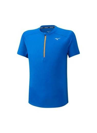 Mizuno Er Trail Hz Tee Erkek T-Shirt Mavi Mavi